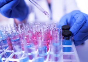 Image of DC Biosciences lab working on Covid 19 research